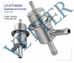REGULADOR DE PRESSÃO REGULADOR 3.0 BAR GM / FIAT / DAEWOO ASTRA 2.0 MPFI 92>96 KADET 2.0 GSI 91...MONZA 2.0 MPFI...92   OMEGA 2.0 G