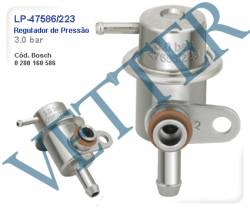 REGULADOR DE PRESSÃO REGULADOR 3.0 BAR FIAT ELBA 1.6 IE 95... TIPO 1.6 8V MPI 95>97 UNO 1.6 MPI 94... 0280160586