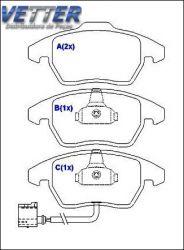 PASTILHA DE FREIO AUDI A3 1.6/2.0 // AUDI A4 BERLINA // AUDI TT 2.0 // VW GOLF // VW JETTA 1.6I // VW PASSAT // VW TIGUAN 2.0 DIANTEIRO HQJ2208A