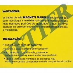 CABO DE VELA  FIAT TEMPRA 2.0 16V ANO 93-94 REFERANCIAS BOSCH 9295080055 /NGK SCT55