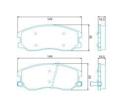 PASTILHA DE FREIO GM CAPTIVA 2.0D/ 2.0I/ 2.4I/ 3.2I 08/... // XL7 V6 3.6L F/INJ. (24V) DOHC 07/08 DIANTEIRO HQJ2264A