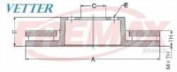 DISCO DE FREIO RENAULT CLIO 1.6 16V ANO 07...  DIANTEIRO / VENTILADO