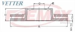 DISCO DE FREIO GM 320 W46 TOURING ANO 01-5/05 //323 W36 SEDAN ANO 97-00 / E46 CABRIOLET ANO 97-00 / E46 SEDAN ANO 98-00  TRASEIRO / VENTILADO