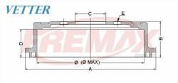 TAMBOR DE FREIO FIAT 500 1.4 16V ANO 09... // BRAVA 1.6 16V ANO 00-03 / 1.8 16V ANO 00-03 // DOBLO 1.3 16V ANO 01... / 1.6 16V